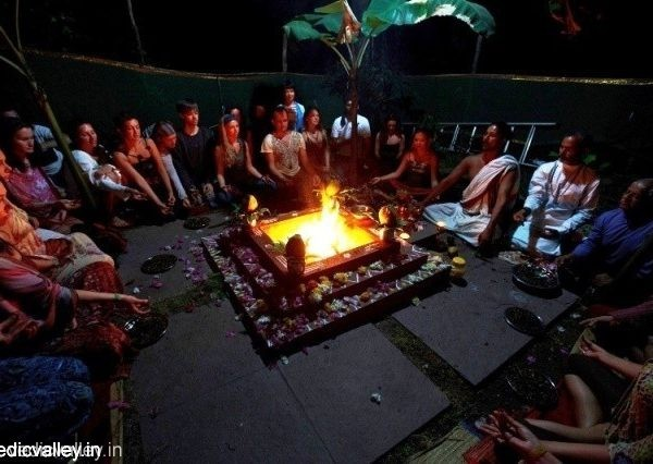 Fire Ceremony with Master Anand